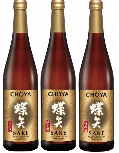 Wino ryżowe CHOYA SAKE 0,75L zestaw 3 win