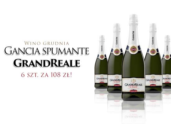 GANCIA spumante GRAND REALE - 6 szt. za 108 zł