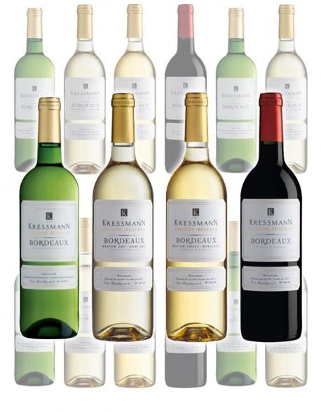 Zestaw 12 win Bordeaux Grande (mix kolorów i smaków)