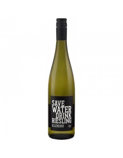 save WATER drink RIESLING