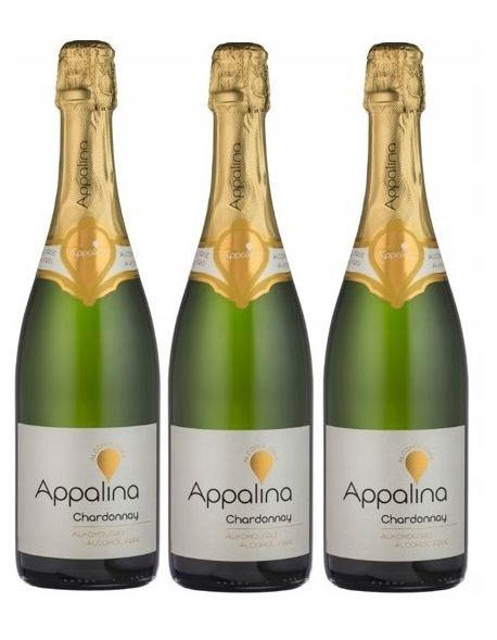 Appalina Sparkling Chardonnay zestaw 3 win