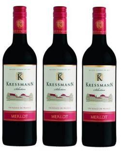 Kressmann Selection Merlot zestaw 3 win