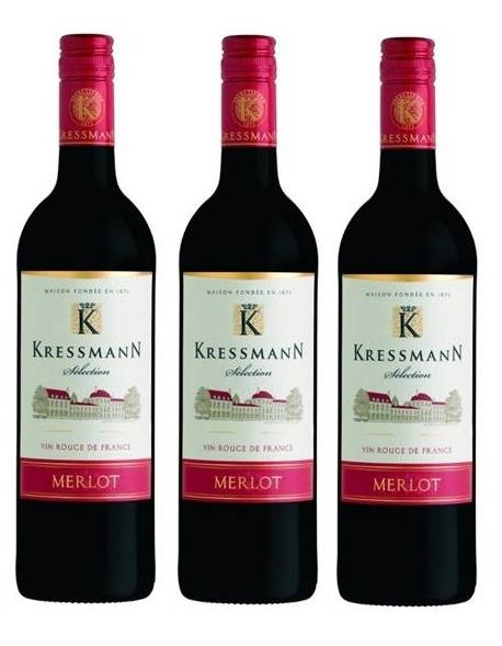 Kressmann Selection Merlot zestaw 3 win