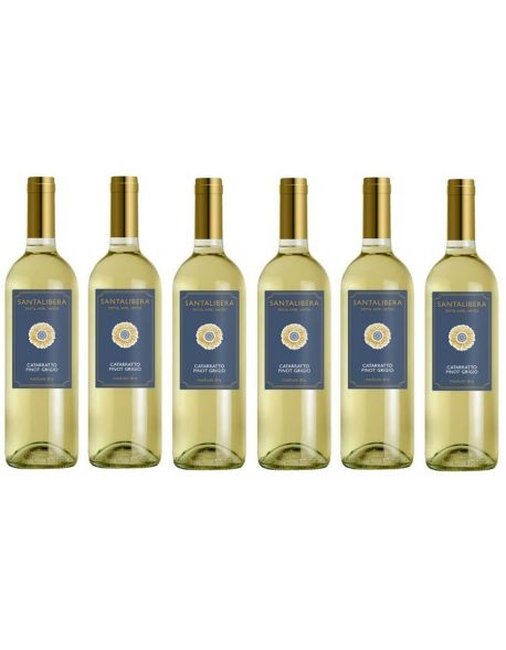 Santa Libera Medium-Dry Bianco zestaw 6 win